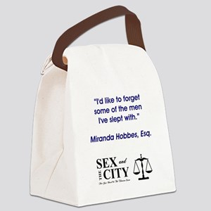 FORGET SOME MEN Canvas Lunch Bag