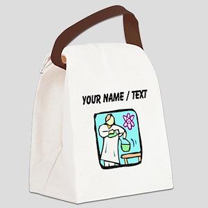 Custom Lab Technician Canvas Lunch Bag