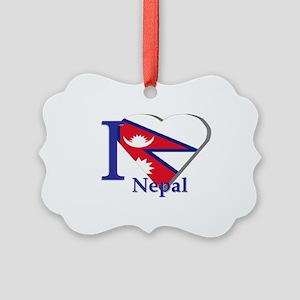 I love Nepal Picture Ornament
