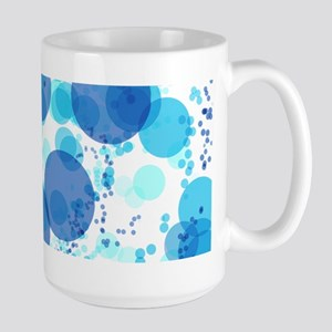 Bubbles Blue Mugs