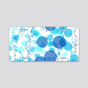 Bubbles Blue Aluminum License Plate