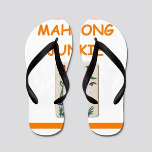 mahjong joke Flip Flops