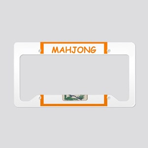 mahjong joke License Plate Holder