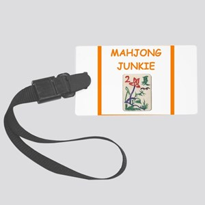mahjong joke Luggage Tag