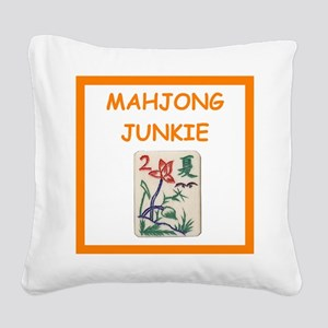 mahjong joke Square Canvas Pillow