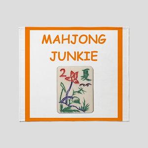 mahjong joke Throw Blanket