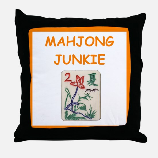 mahjong joke Throw Pillow