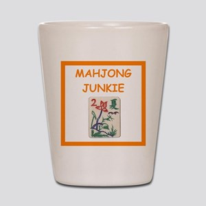 mahjong joke Shot Glass