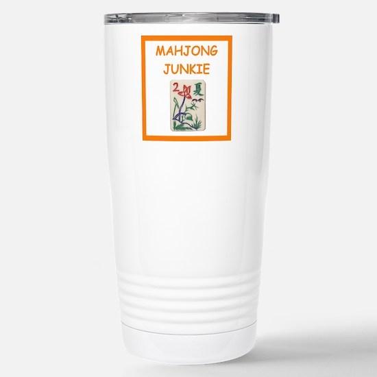 mahjong joke Travel Mug