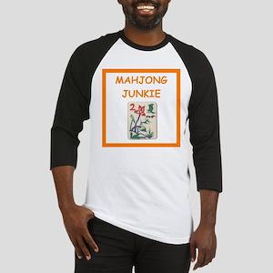 mahjong joke Baseball Jersey
