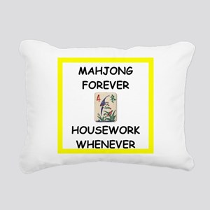 mahjong joke Rectangular Canvas Pillow