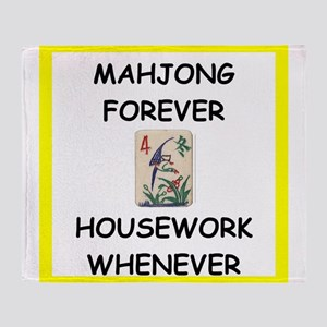 mahjong joke Throw Blanket