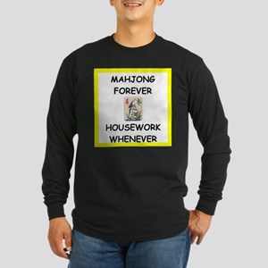 mahjong joke Long Sleeve T-Shirt