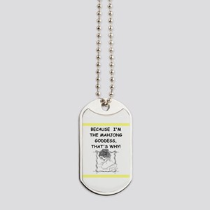 mahjong joke Dog Tags