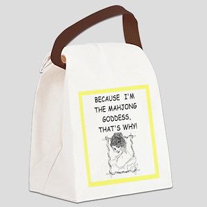mahjong joke Canvas Lunch Bag
