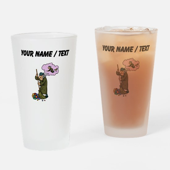 Custom Janitor Drinking Glass