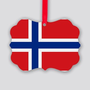 Norway flag Picture Ornament
