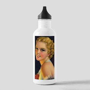 retro bride vintage gi Stainless Water Bottle 1.0L