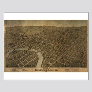 Columbus, Ohio, 1872 antique Small Poster