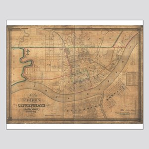 Cincinnati ,Ohio 1838 antiqu Small Poster