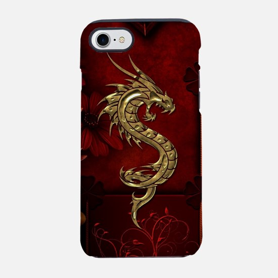 Wonderful golden chinese dragon iPhone 7 Tough Cas