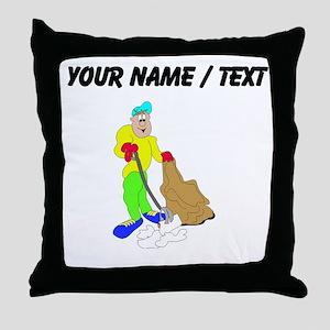 Custom Janitor Throw Pillow