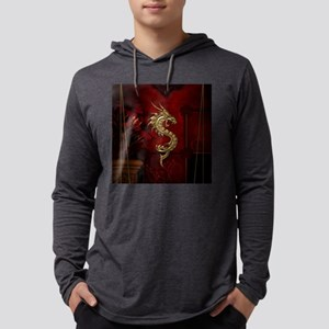 Wonderful golden chinese dragon Long Sleeve T-Shir