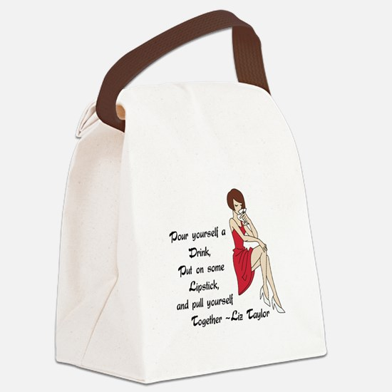 POUR YOURSELF A DRINK Canvas Lunch Bag
