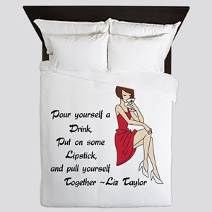 POUR YOURSELF A DRINK Queen Duvet