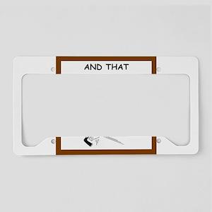 hockey joke License Plate Holder