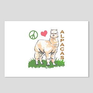 PEACE LOVE ALPACAS Postcards (Package of 8)