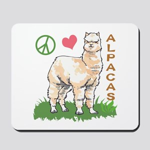 PEACE LOVE ALPACAS Mousepad