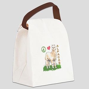 PEACE LOVE ALPACAS Canvas Lunch Bag
