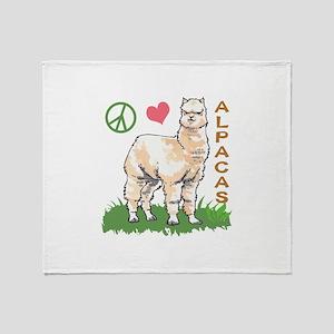 PEACE LOVE ALPACAS Throw Blanket