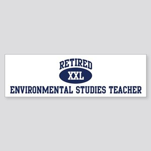 Retired Environmental Studies Bumper Sticker