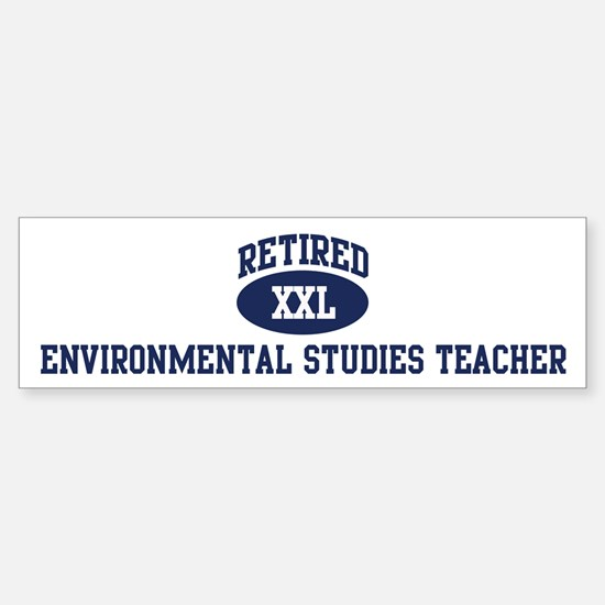 Retired Environmental Studies Bumper Bumper Bumper Sticker
