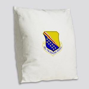 USAF Air Force 82nd Training W Burlap Throw Pillow