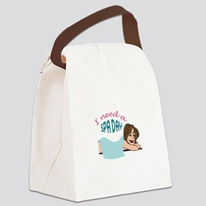 I NEED A SPA DAY Canvas Lunch Bag