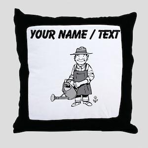 Custom Gardener Throw Pillow