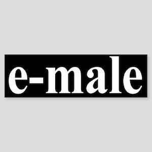 e-male Bumper Sticker
