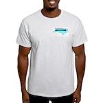 True Blue North Carolina LIBERAL Ash Gray T-Shirt