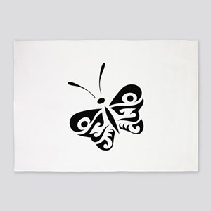 ONE COLOR BUTTERFLY 5'x7'Area Rug