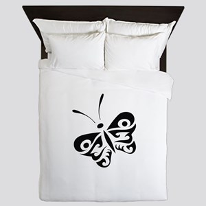 ONE COLOR BUTTERFLY Queen Duvet