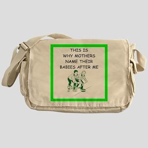 curling joke Messenger Bag