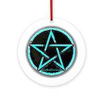 Blue Plasma Pentacle Ornament - Pendant