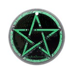 Green Pentacle Ornament - Pendant