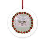 Christmas Cat Round Ornament