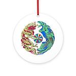 Mikado Dragon Ceramic Art Pendant - Ornament