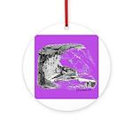 Purple Bat Bliss Ornament - Pendant
