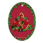 Xmas Triquetra Pendant (Oval)